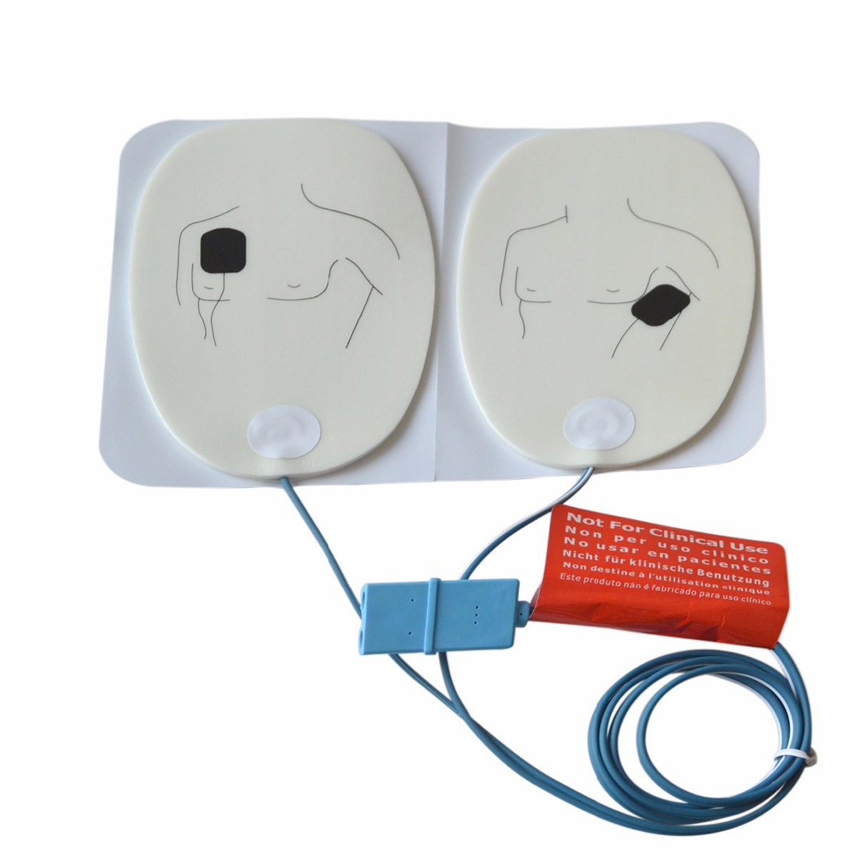 5Pairs AED Training Electrodes ECG Defibrillation Electrode Pad Use With AED Machine For Emergency Skills Training 5pairs aed training electrodes ecg defibrillation electrode pad use with aed machine for emergency skills training