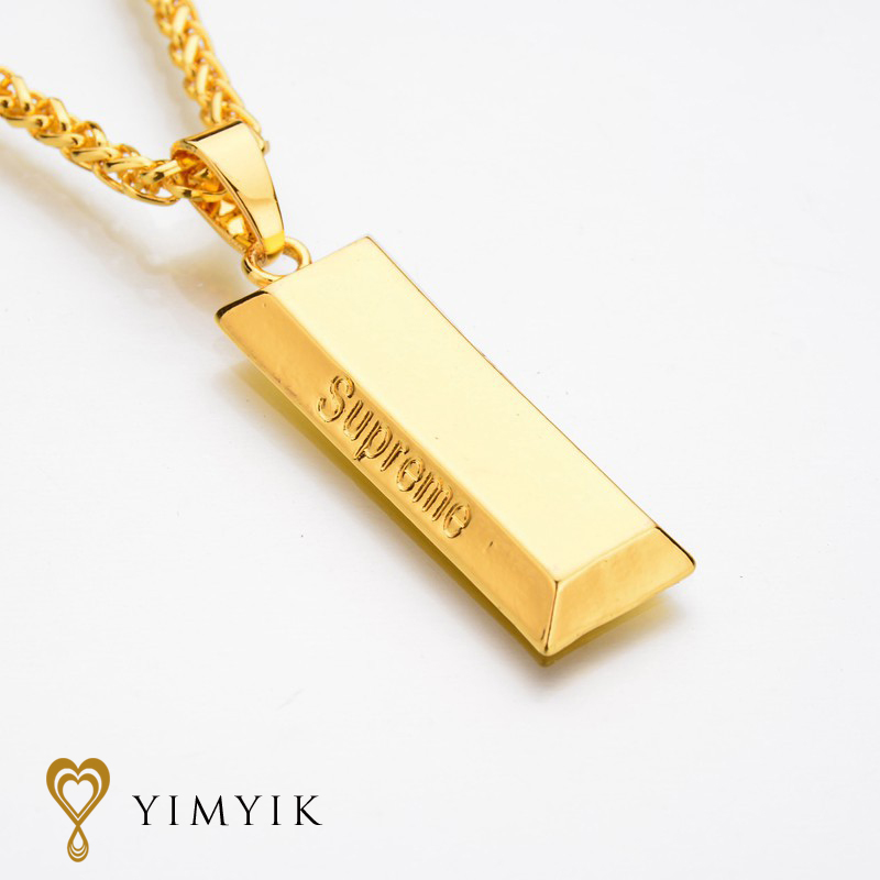 Yimyik chain punk necklaces gold cube bar necklace pendant hip hop yimyik chain punk necklaces gold cube bar necklace pendant hip hop jewelry dance charm franco for men jewelry gifts in pendant necklaces from jewelry aloadofball Image collections