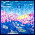 90 cm * 90 cm de las mujeres sol de primavera salvaje bosque pintura patrón cuadrado grande bufanda bufandas al por mayor lugar de trabajo