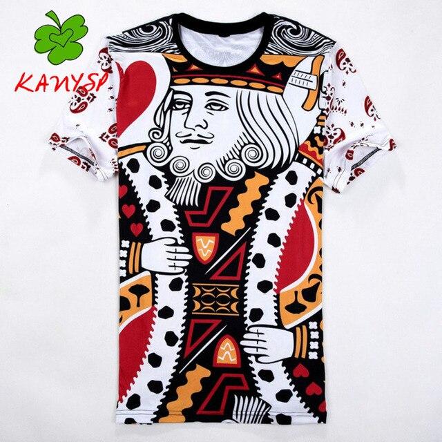 Мужская Футболка хип-хоп versae тройник 3D мультфильм печати pattern slipknot футболки мужская бренд новый список мужская повседневная KANYSP