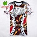 Hombres de la T-shirt hip-hop versae camiseta 3D patrón de impresión de dibujos animados slipknot camiseta de los hombres de nueva oferta de la marca de Los Hombres ocasionales KANYSP