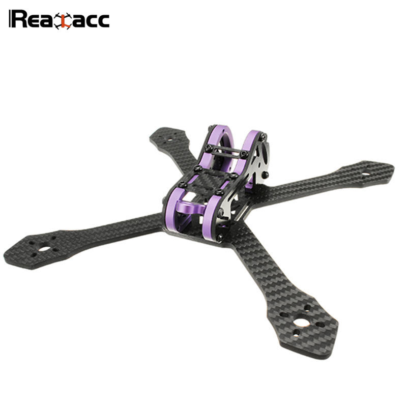 Original Realacc Purple215 215mm 4mm Arm Thickness Carbon Fiber Frame Kit For RC Multirotor Quadcopter Camera ESC Motors realacc kt100 100mm carbon fiber frame kit for rc quadcopter multirotor fpv camera drone x type frame accessories purple
