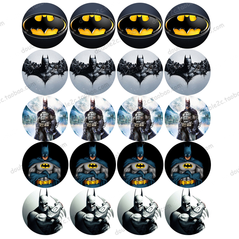 Batman Edible Wafer Paper For Cup Cake Topper Party