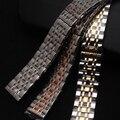 18mm 20mm 22mm 24mm pulseiras hot misto de Prata em Ouro Rosa De Metal Em Aço Inoxidável Pulseiras Pulseiras Strap quartz Faixa de relógio de boa qualidade e entrega rápida
