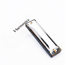 Blues Harmonicas 10 Holes 20 Tone Key of C Silver Color Jazz Rock Folk Musical Instrument Diatonic Harp With Case(China)