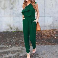 2017, Новая мода комбинезон женские футболки с длинными рукавами с лацканами рукавом Свободные Нерегулярные карман комбинезоны комбинезон женский
