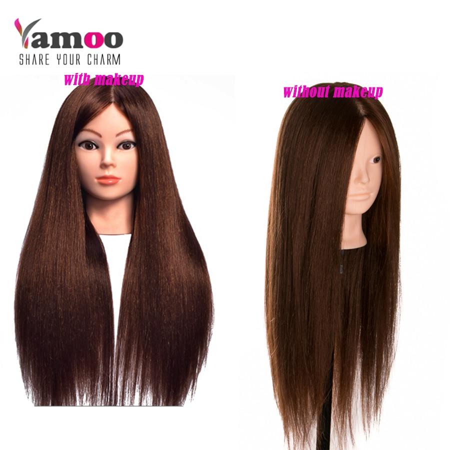 60% Իրական մազերի երկար 60 սմ վարժեցման - Մազերի խնամք և ոճավորում