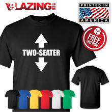 Two seater arrow fun tee novelty college humor t shirt gift