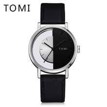 Tomi 2017 New Men Watch Luxury Top Brand Fashion Casual Leather Strap Wrist Watch Simple Business Dress Male Quartz Clock T017