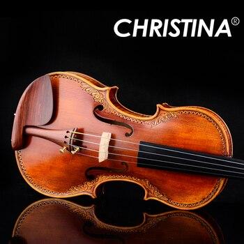 Christina S200 skrzypce 4/4 Advanced włochy ręcznie skrzypce drewno świerkowe instrument muzyczny wiolonczela, skrzypce przypadku, kalafonii