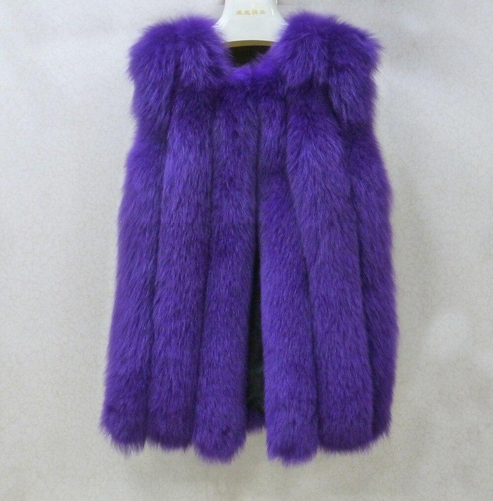 100 red De Naturel brown Peau Kfp766 Mode Femmes D'hiver Tout Complet Gilet silver Fourrure boblue Renard Véritable purple Pelt Natural black Manteau Fox tx0Hwqx8
