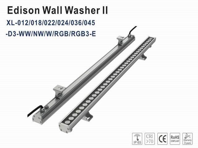 2018 Nova Alta Qualidade 36/3-em-1 45 w Edison LED RGB Wallwasher Iluminação IP65 DC24v 1000mm linear lâmpada de inundação CE & ROHS 12 pçs/lote