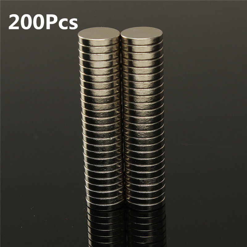 200pcs Dia 10mm x 2mm N35 Super Powerful Strong Rare Earth NdFeB Magnet Bulk Small Round NdFeB Neodymium Disc Magnets Low Price powerfull pot magnet magnet super heavy magnetic hook holder neodymium rare earth dia 10mm hot sale 2pc