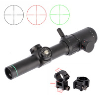 Hunting Air Rifle scope Green Red Illuminated 1 4x20 Range Finder Reticle Rifle scope Sight with 11mm or 20mm Rail Mount