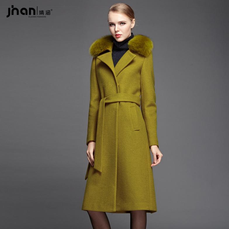 Aliexpress.com : Buy Jing Han 2014 new Fox Fur collar cashmere