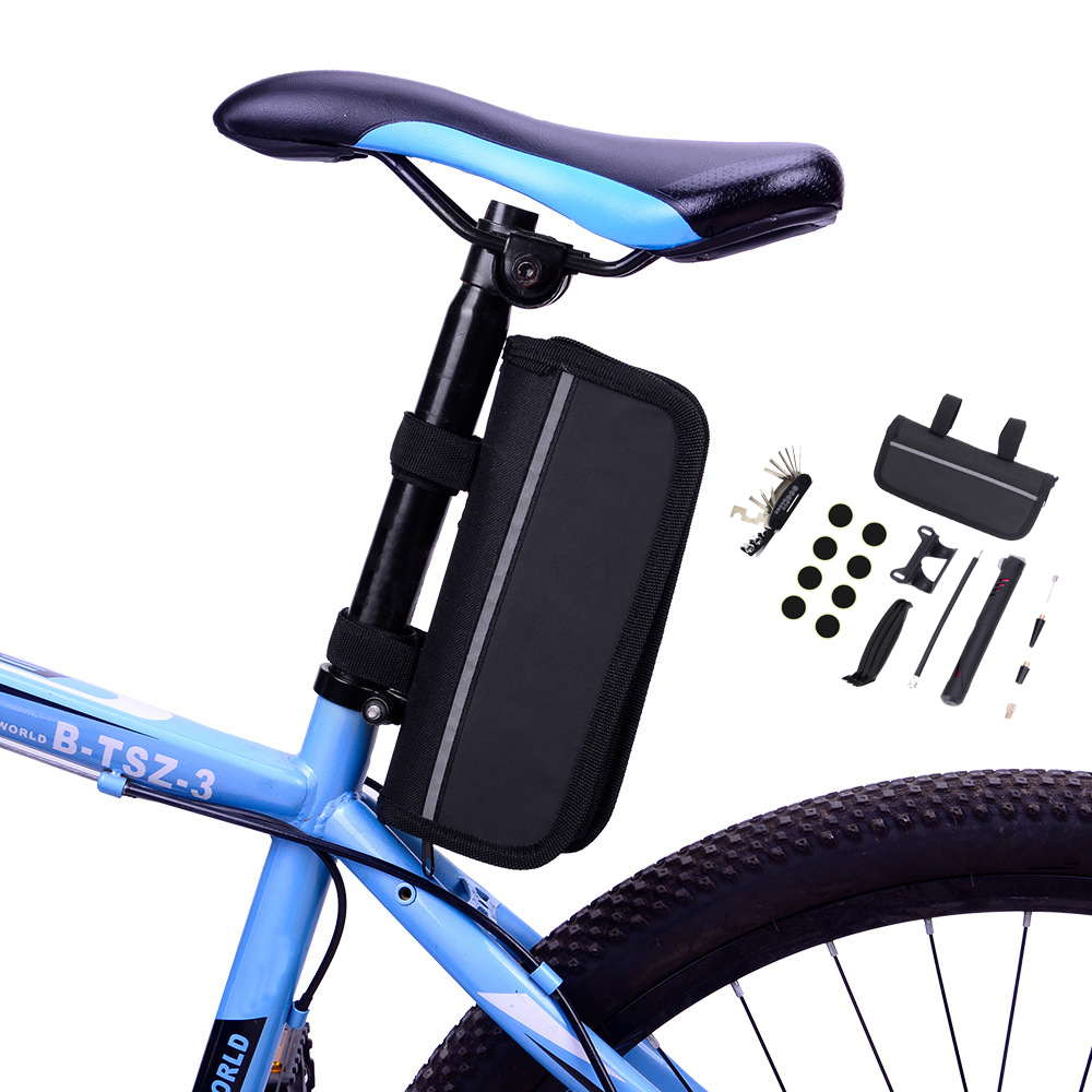 New Portable Waterproof Bike Bicycle Cycling Tool Bag With Repair Kit Pump Tyre Repair MTB Bike Bicycle Rear Bag Accessories