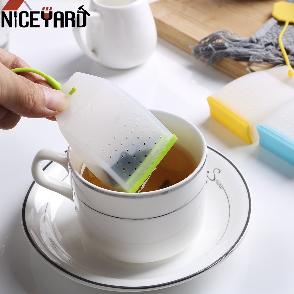 NICEYARD Tea Strainers Tea Infuser Herbal Tea Infusers Food-grade Silicone Tea Bag High Temperature Resistance Random Color