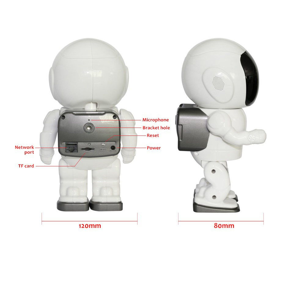 Image 5 - A180 Fashion Robot shape wifi camera support phone control Head Turn support  phone remote viewing Spaceman astronaut toy camera-in Surveillance Cameras from Security & Protection