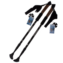 Promotional!!! 2 PCS/set 3-sections Nordic Walking Stick Trekking Hiking Poles Straight Grip Cane Climbing Stick