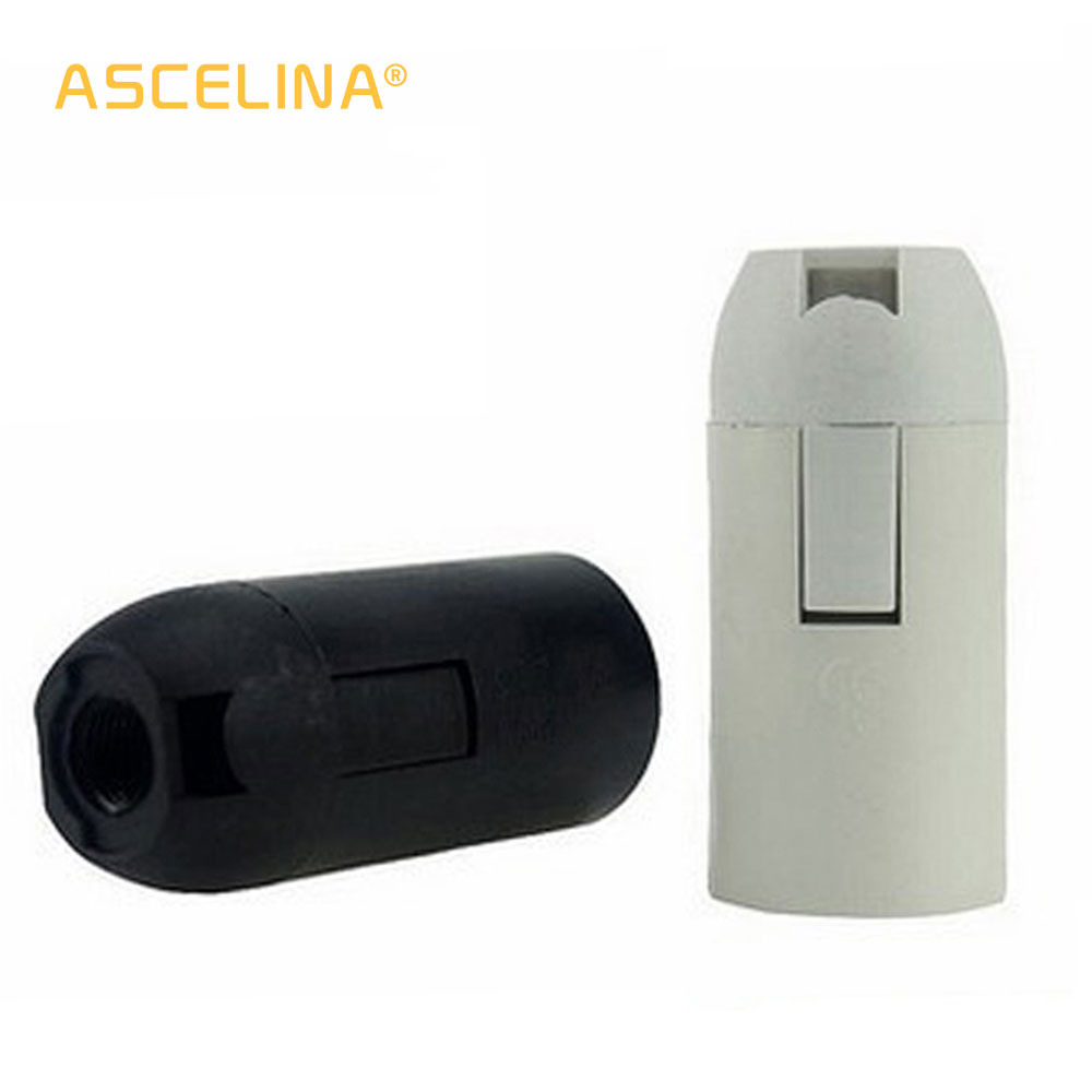 ASCELINA 2pcs/lot E27/E14 Lamp Base Black Vintage Lamp Holder Led Fitting Socket Lamp Accessories Chandelier Base Lamp Socket