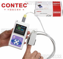 Contec CE&FDA Hand-Held Pulse Oximeter,USB PC analysis software CMS60D,SPO2,PR(China (Mainland))