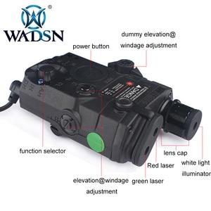 Image 2 - WADSN Airsoft PEQ15 LA 5C AN/PEQ UHP สีเขียวและสีแดงคู่เลเซอร์ไฟฉายสำหรับล่าสัตว์ Softair LA5 ZERO  หยุด WEX450 ไฟ