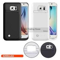 4200 mAh Harici Yedekleme Güç Bankası Pil Şarj Kılıfı için Samsung Galaxy S6 Kenar S6 Kenar Artı Şarj Güç Bankası vaka