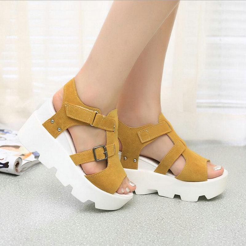 Black white Las 27z Alto Verano Punta gris Sandalias Mujer Casuales De Zapatos amarillo Abierta 2019 Tacón plata Mujeres Mm Plataforma Calzado a1zgzqx