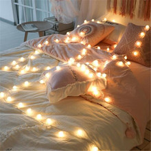 Sale Fairy Holiday Light String AA Battery Powered IP65 1M 2M 6M 10M LED Flexible Strip Light Bedroom Decoration Warm White Lamp
