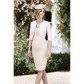 2016 Fashion Women Formal Dresses For Wedding Knee Length Lace Vestidos De Madrina De Madres Novia Custom Made