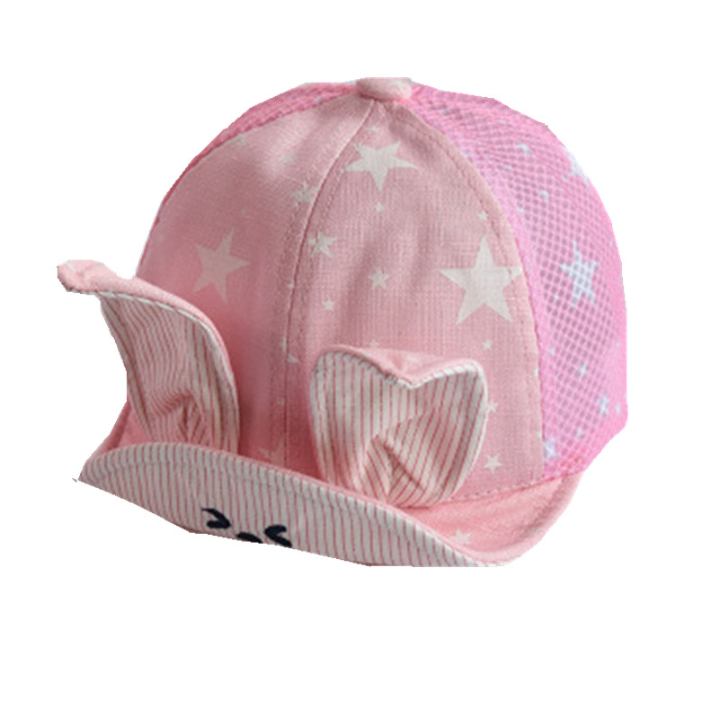Baby soft along hat spring summer children baseball cap rabbit ears sun  visor new infant sun hat star bunny web girls beanies-in Hats   Caps from  Mother ... ac538a7e2a9a