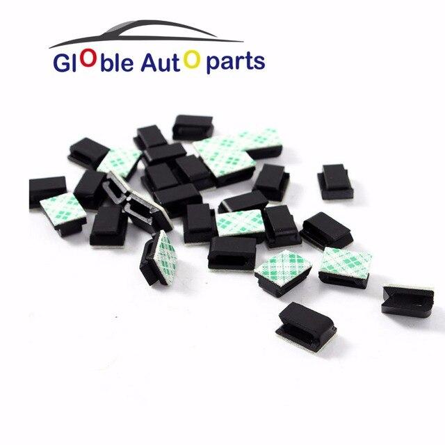 Sticker Car Wire Cord Clip Cable Holder Tie Clips Fixer Organizer ...