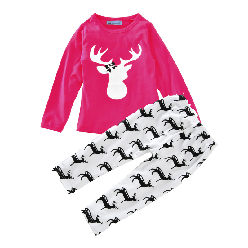 4c8c0839e US $12.99 |ZBAIYH Chinese New Year Infant Clothing Sets Baby Girls Basic  Shirts+Pants Cartoon Deer Coat Pants Boutique Costume For Toddler-in  Clothing ...
