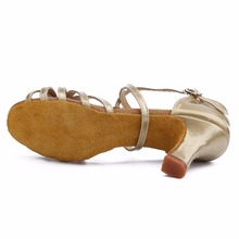 Heel 7cm/5cm With Knot PU Latin Dance Shoes Woman Zapatos De Baile Latino Mujer WZJ Free Shipping