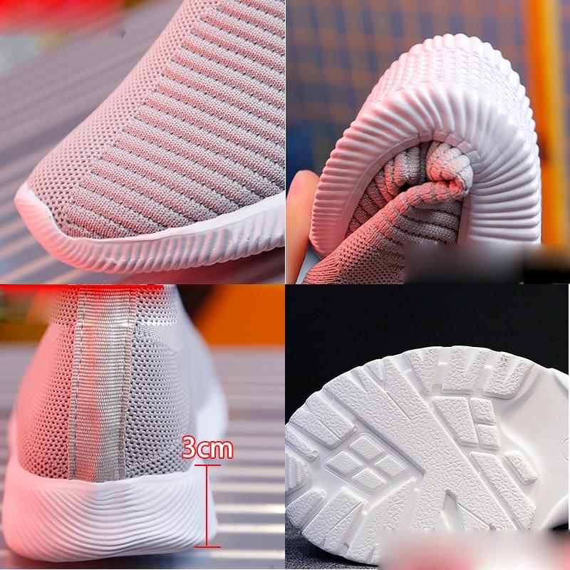 2019 autumn Shoes Women Sneakers Slip On Flat Women Black pink Women Shoes Plus Size Loafers Walking Flat Shoes Women's Shoes