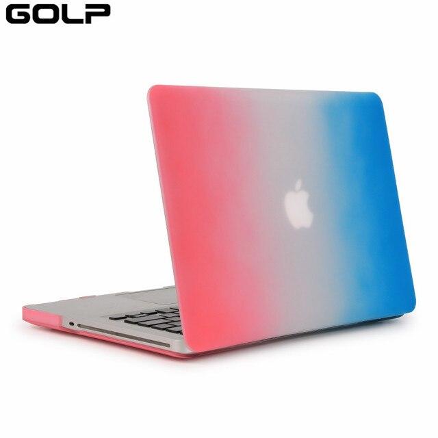 For Macbook 15 Pro Case, GOLP Hard PC Gradient Rainbow Color ...