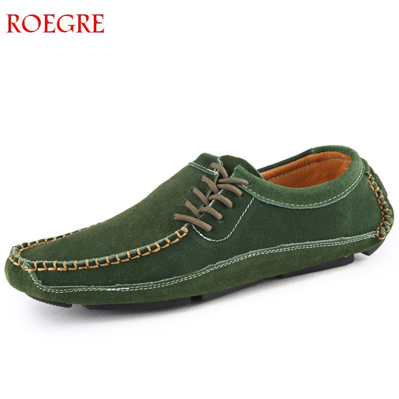 Men's Driving Shoes 2019 Men Genuine   Leather   Loafers Shoes Fashion Handmade Soft Breathable Moccasins Flats Slipe On Shoes 38-47