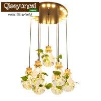 Moderne einfache persönlichkeit design led lampe beleuchtung wohnzimmer schlafzimmer esszimmer fenster bar pflanzen glas kronleuchter Deckenleuchten Licht & Beleuchtung -