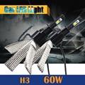 60 W H3 Bombilla LED Reemplazo Faro 6400LM 6500 K Cool White Car Luz de Niebla luz de Circulación Diurna DRL 1 Par