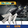60W H3 LED Bulb 6400LM 6500K Cool White Car Replacement Headlight Fog Light Daytime Running Lamp DRL 1 Pair