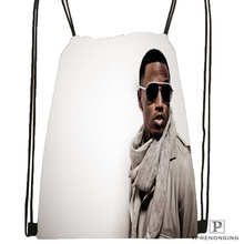 Custom Trey Songz Atlantic Drawstring Backpack Bag for Man Woman Cute Daypack Kids Satchel Black Back