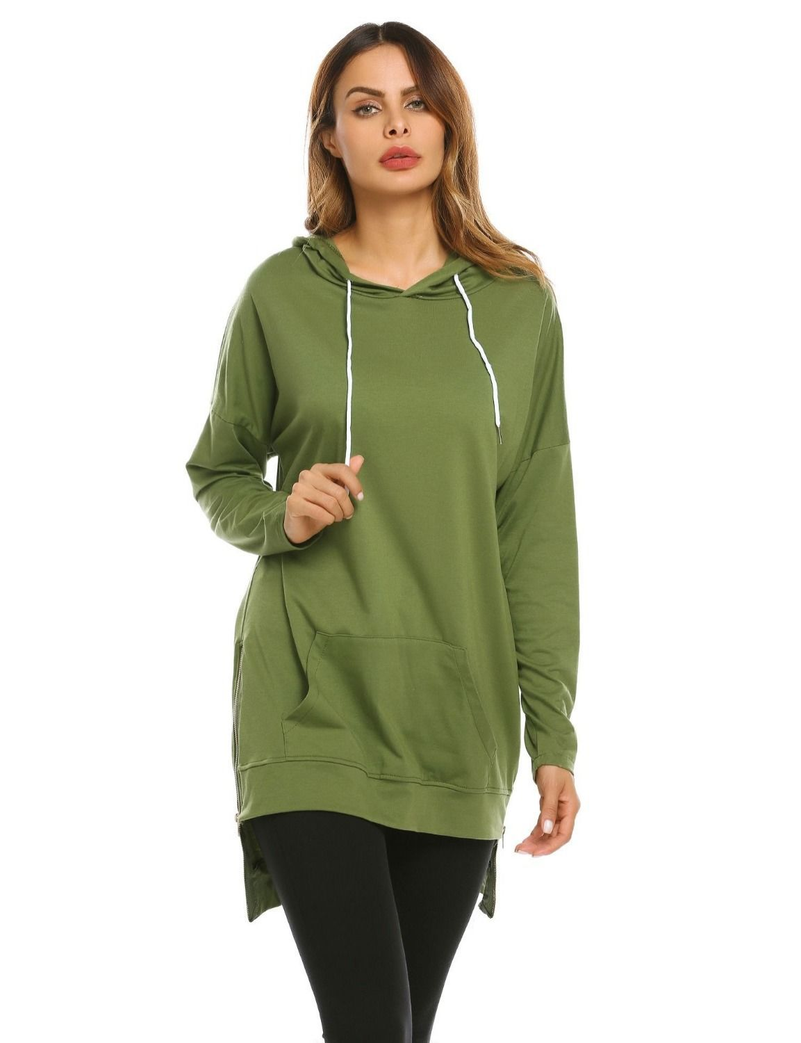 harajuku oversized hoodie plus size women korean clothes pink clothing festival 2019 casual long solid pullovers sweatshirt in Hoodies amp Sweatshirts from Women 39 s Clothing