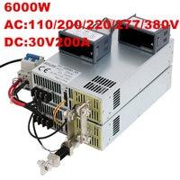6000W 30V power supply 0 30V adjustable power supply 30V AC DC 0 5V analog signal control power supply transformer 30V 200A
