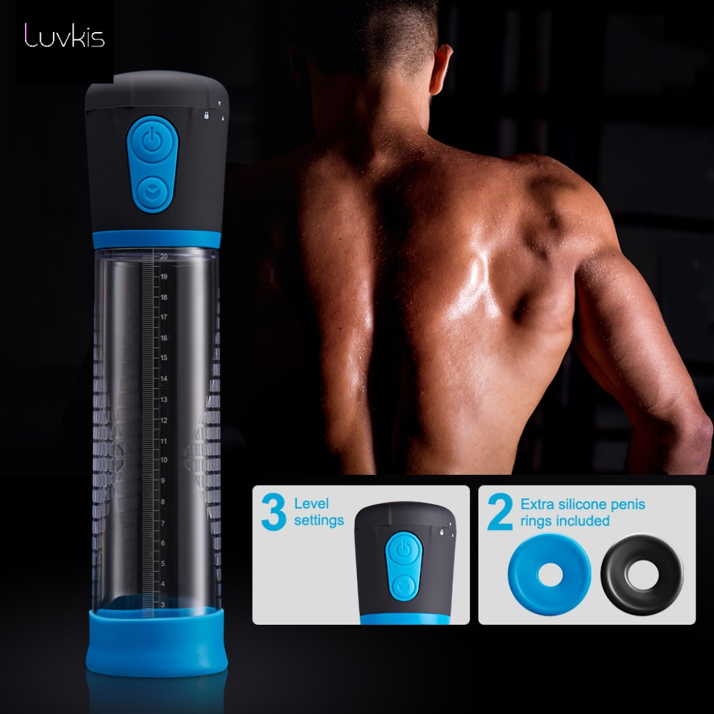 Luvkis Automatic Penis Pump Enlargement Pump Enlarger Vacuum Suction Penis Extender Sex Toys Exercise Adult Products For Men цены