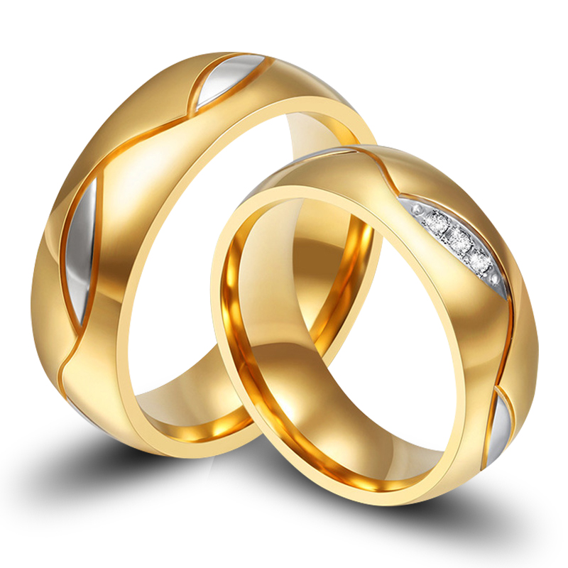 1 pair luxury vintage18k gold plating cz diamond new for Infinity design wedding ring