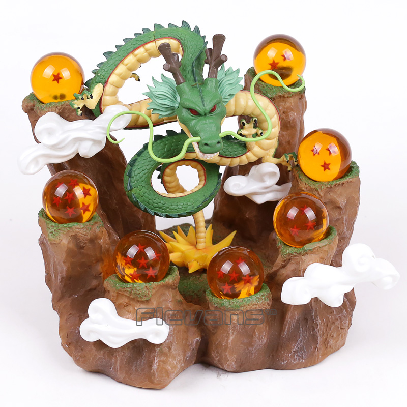 aeProduct.getSubject()  NEW HOT!!! Dragon Ball Z The Dragon Shenron + Mountain Stand + 7 Crystal Balls PVC Figures Collectible Mannequin Toys HTB1QKeKahPI8KJjSspfq6ACFXXac