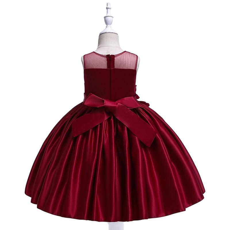 Elegant Rose Fower Girls Dress Kids Princess Birthday Applique Prom Designs Ball Gown Fashion Children Dresses For Girl Clothes (4)