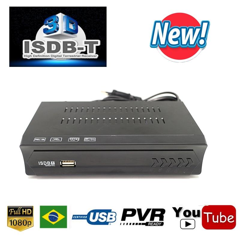 2019 Ricevitore Tv Hd Digitale Isdb-t Sintonizzatore Tv Ricevibili Mpeg4 1080 P Hd Sintonizzatore Isdbt Per Il Brasile Perù Argentina Cile Ricevitore Video Eccellente (In) Qualità