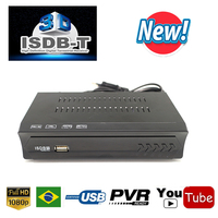 2019 TV Receiver HD Digital ISDB T TV Tuner Receivable MPEG4 1080p HD ISDBT Tuner For Brazil Peru Argentina Chile Video Receiver