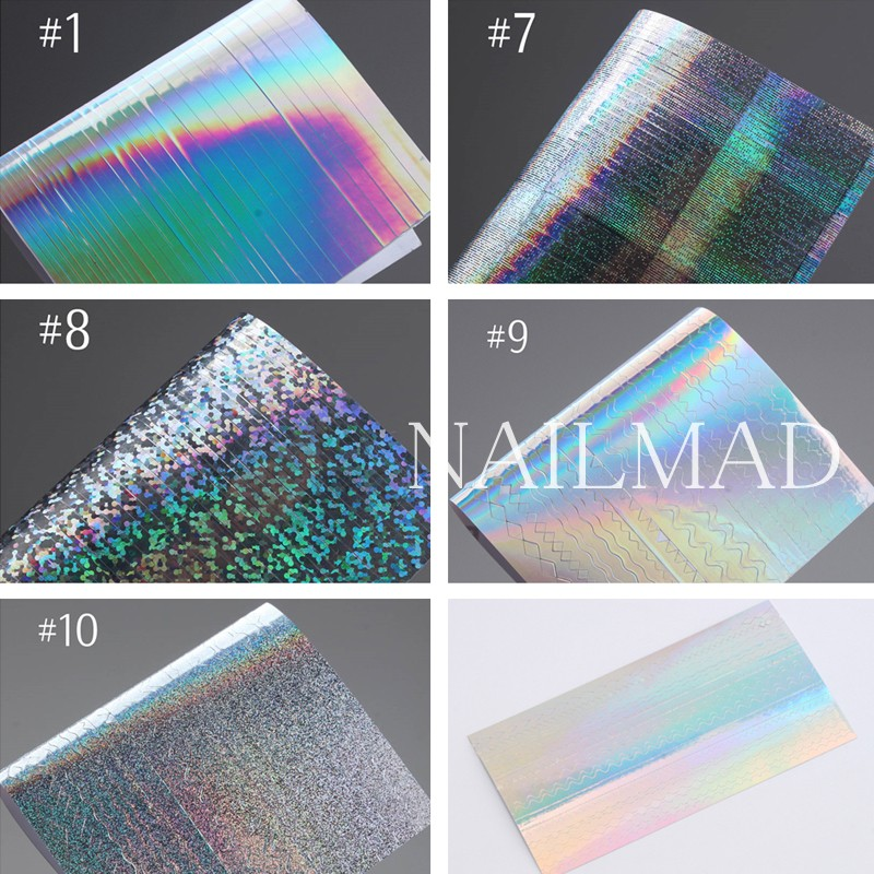 1 парақ NailMAD Holo Nail Art Stickers Ультра жұқа - Маникюр - фото 2